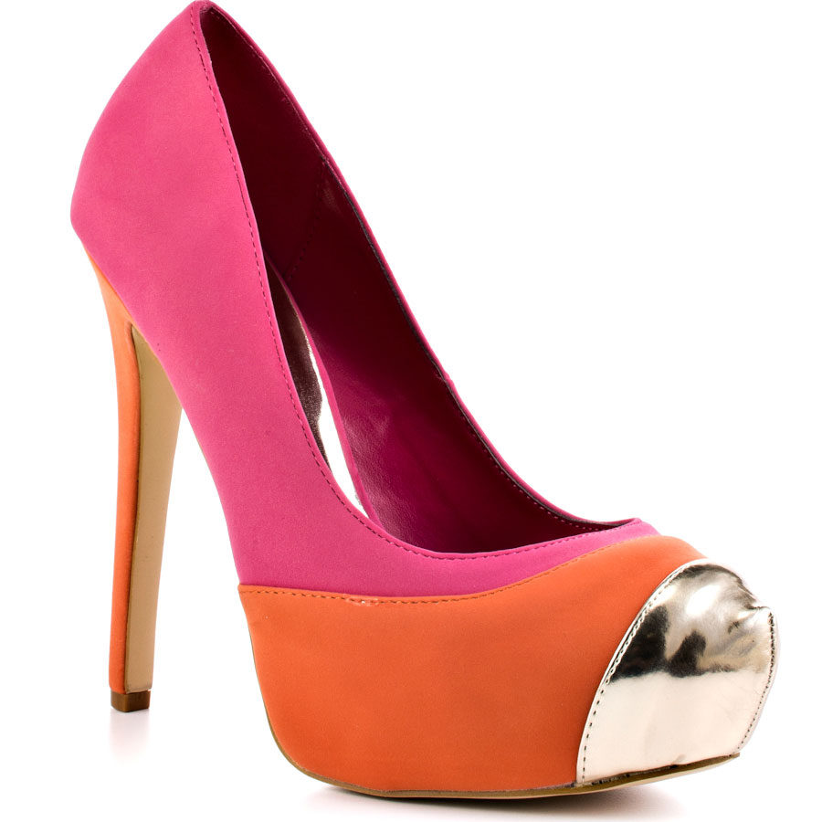 Yems fash Brights 6---- bright shades of pink, orange and silver heels