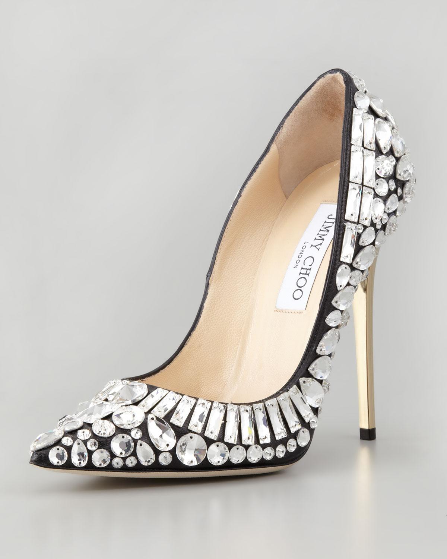 shoes 8----Jimmy-Choo PointyToe-Jewel-Pump